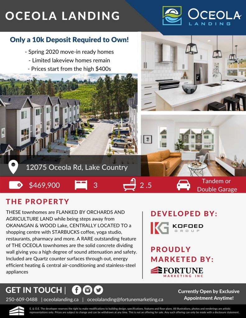 Oceola Townhomes for sale.