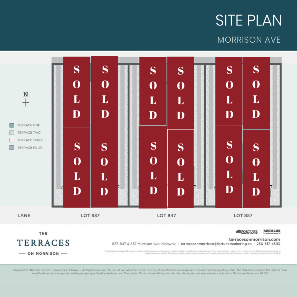 3 bedroom townhomes sold out in pandosy village, kelowna