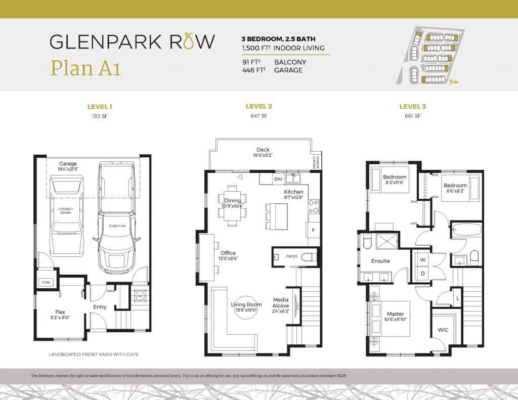 Glenpark Row floor plan